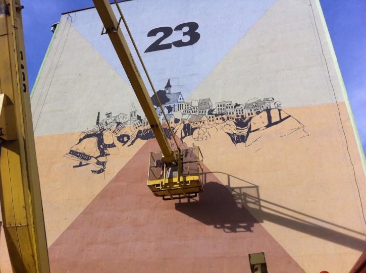 Płonka - mural