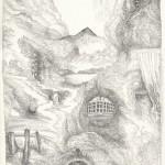003. Bez tytulu, lata 60. XX w., rys. tuszem, papier, 31,5 x 24,5 cm