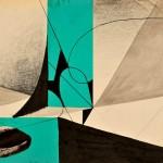 DSC_0770. Bez tytulu, 1953, technika mieszana, papier, 29,5 x 42 cm