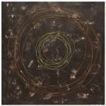 Agnieszka Rzońca, Hula-hoop, akryl i tusz na papierze, 70x70 cm, 2015