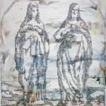 David Mazanec. Dvojice, 130x100cm, akryl na płótnie